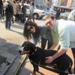 Oscar The Grouch (Greater Swiss Mountain Dog) celebrates St. Patrick's day with his fans