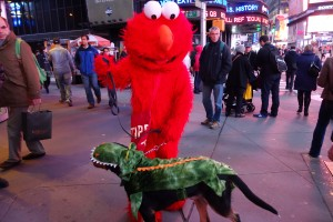 Oscar The Grouch Dog Meets Elmo (Swissy Halloween)