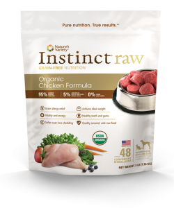 Nature's Way Instinct Raw Organic Chicken Formula Dog Food